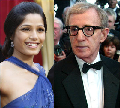 Freida Pinto and Woody Allen