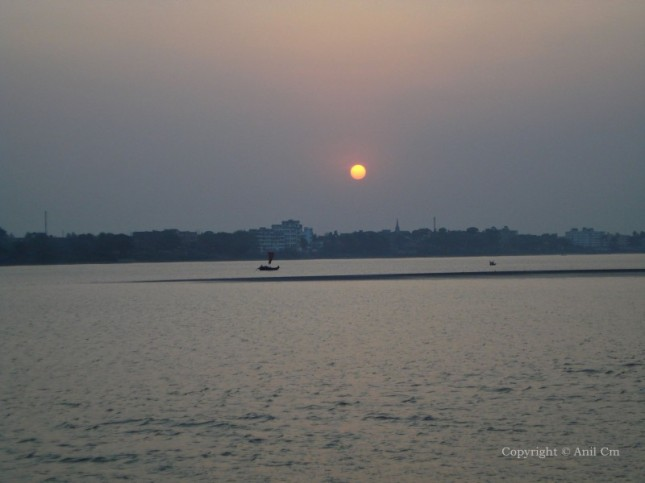 Sunset at Gandhi Ghat Barrackpore, Calcutta