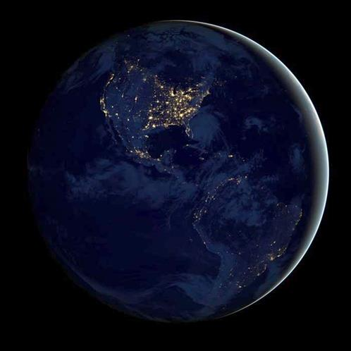 Earth by night by nasa
