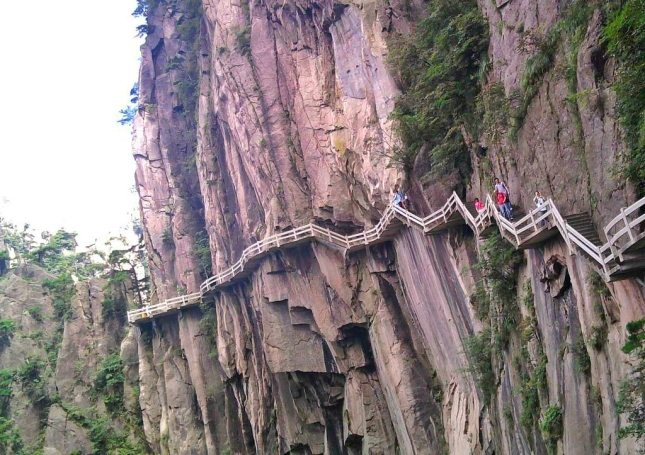 Walking Path at Huangshan Mountain in Anhui, China